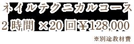 ネイルテクニカルコース 3時間×60回¥510,000